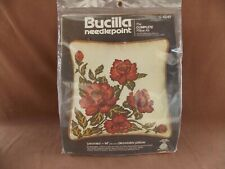 "Peonies 14"" Decorator Needlepoint Pillow Kit 4249 - Bucilla Nip"