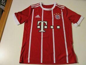 FC BAYERN MUNCHEN FOOTBALL CLUB ADIDAS SEWN LOGO SOCCER JERSEY YOUTH LARGE RARE