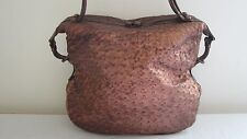 Authentic Bottega Veneta Copper Metallic Ostrich Belly Bag