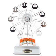 ISHIGURO Silver Ferris Wheel Music Box - Plays It's A Small World New