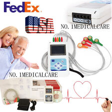 Portable Dynamic 3 leads ECG Systems 24h Analyzer/Recorder+pc software, US Fedex