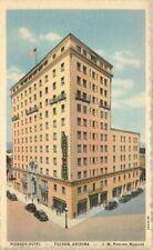 Automobiles roadside 1930s Pioneer Hotel Tucson Arizona Postcard Teich 20-7472
