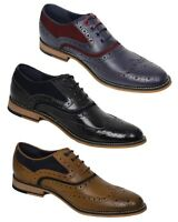 Men's Italian Couture Real Leather Gatsby Brogues Retro Casual Designer Shoes