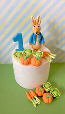 Edible Peter Rabbit Cake Topper Number Vegetables For Peter Rabbit Theme Cake