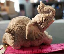 Elephant Figurine, Trunk Up Figurine, Resin