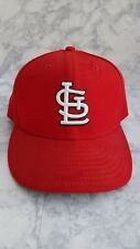 MLB St. Louis Cardinals New Era Fitted Hat 7 1/8 Basball Cap Flat Bill Red/White