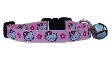hecho a mano rojo y Blanco Hello Kitty Collar Para Gato Gatito Seguridad