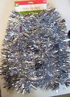 9 FT SILVER VERY FULL TINSEL GARLAND CHRISTMAS VALENTINES PATRIOTIC  DECORATION