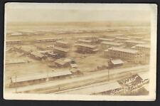US 1901 REAL PHOTO CARD OF CAMP FUNSTON IN KANSAS
