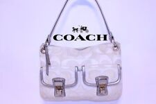 Rare Coach Poppy Signature Sateen Hippie Handbag Crossbody