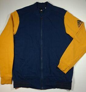 Adidas Medium 100% Cotton Full Zip Colorblock Track Jacket