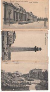 Latvia LIEPAJA fm. LIBAU 3 PCs from hand-made booklet ed. Freidlin, Libau c 1920