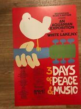 "Woodstock Music Festival 1969 Cardstock Concert Poster 12"" x 18"""