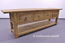 TEAK ANRICHTE SE15-2 Teakholz antik massiv GEBÜRSTET Tisch Sideboard Kommode