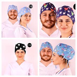 dental theme  Scrub Caps Doctor Theatre dentist ODP dentist Surgical  scrub hats