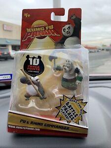 MATTEL KUNG FU PANDA PO & RHINO COMMANDER 2-pk Battle Palace Playset New 2008