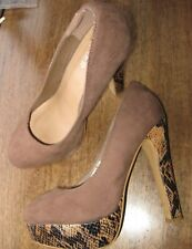 "Women's Brown Suede ""BULL BOXER"" Shoes sz; 5 (39) very High Heels, Platforms"