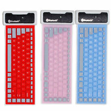 New Roll UP Keyboard Bluetooth Wireless Washable Water-proof Flexible Silicone