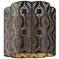 Moderne noir et or marocain abat-jour plafonnier pendentif nouveau