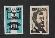 1976 RHODESIA - TELEPHONE CENTENARY - GRAHAM BELL - SET OF TWO - MNH.