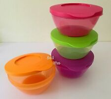 Tupperware Colourful Click Bowls Set of 4 with Gift Box