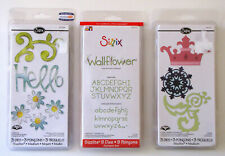 Sizzix Sizzlits NIP Cutting Dies LOT Crown Hellow Daisy Alphabet Floral Motifs