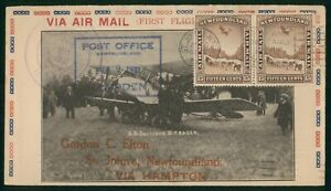 MayfairStamps Canada First Flight Cover 1931 St John's Newfoundland to Hampton w