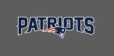New England Patriots Bumper Window Vinyl Decal 7x2