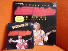 VINYL DOUBLE 33T + 45T – JOHNNY HALLYDAY : LIVE ENREG.PUBLIC PAVILLON PARIS 1979