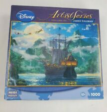 Disney Peter Pan Puzzle Jigsaw Artist Series Moonrise Over Pirates Cove1000