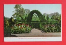 The Maze Hotel Del Monte Grounds Monterey CA Unposted UDB Postcard