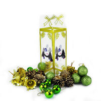 Evelyne 60Pcs Set Green Christmas Hanging Ornaments Assortment Green
