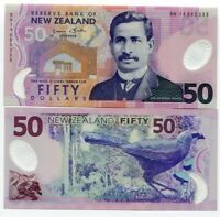 NEW ZEALAND 50 DOLLARS 2014 P 188 NEW SIGN POLYMER UNC