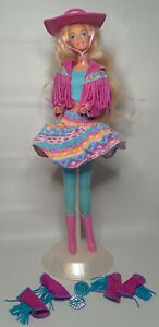 Vintage Barbie Western Fun Original Outfit Boots Hat Skirt Extra Accessories TNT