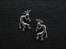 KOKOPELLI / Kokopeli .925 Sterling Silver Post Earrings - FREE SHIP & Gift Box!!