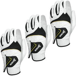 Srixon Mens Left Hand Golf Gloves Hi-Brid Left Handed Golf Glove White Black