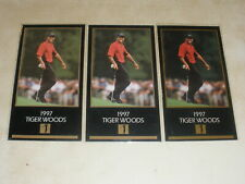Lot of 3 - 1997 Grand Slam Ventures Masters Tiger Woods Rookie RC