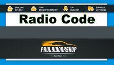 Radio Code - Fiat Peugeot Citroen Continental VP1 VP2 Key Code Codice radio