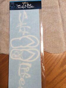 "SALT LIFE FLIP FLOPS SANDALS  UV Rated Vinyl Window White 12"" Decal Sticker FISH"