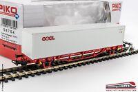 PIKO 58754 - H0 1:87 - Carro Merci pianale DB modello Lgns con container OOCL