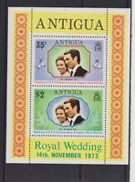 1973 Royal Wedding Princess Anne MNH Stamp Sheet Antigua SG MS375