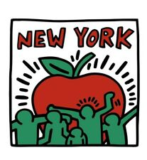 "HARING, KEITH - UNTITLED, 1989 (BIG APPLE) - ART PRINT POSTER 19"" X 13"" (2785-2)"