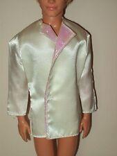 Ken Clothes Jacket Coat White Satin Formal Wedding Groom Iridescent Collar K16
