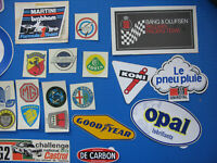 Lot 2 Vintage 35 Autocollants Stickers voiture rallye car racing année 70-80