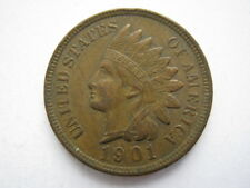 ÉTATS-UNIS 1901 Indian Head Cent VF