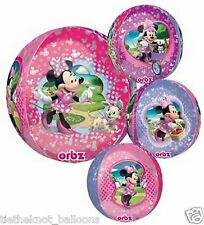 "BIRTHDAY PARTY MINNIE MOUSE 15"" ULTRA SHAPE ORBZ FOIL BALLOON ROUND"