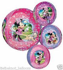 """Festa Di Compleanno Minnie Mouse 15"""" Ultra forma Orbz Lamina Palloncino tondo"""