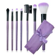 7pcs/set Makeup Blush Eyeshadow Lip Brush Cosmetic Brushes Set Kit + Bag Case