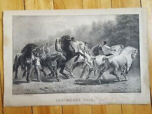 The Horse Fair Currier & Ives Print 1870's