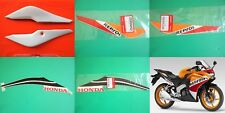 Honda CBR125R Left + Right Rear Fairing Panel REPSOL White + Decals 2012 - 2018